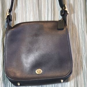 COACH Crossbody  Black Leather Purse